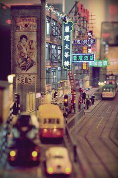 "/ Photo ""Hong Kong in by grace chow Françoise Sagan, Tiny World, Plein Air, Model Trains, Grace Chow, Shanghai, Hong Kong, Thing 1, The Incredibles"