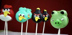 Angry Bird Macaron Lollipop