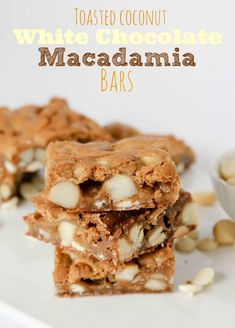 Toasted Coconut White Chocolate Macadamia Bars