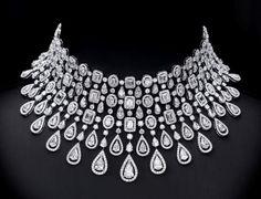 The best classy diamond necklace 7241 Dimond Necklace, Diamond Choker Necklace, Circle Necklace, Earrings, Wedding Jewelry For Bride, Bridal Jewelry Sets, Bridal Jewellery, Indian Jewelry Sets, Wedding Hair