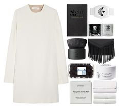 """""""GentleWoman"""" by violet-peach ❤ liked on Polyvore featuring Victoria Beckham, Smythson, adidas, Alexander McQueen, NARS Cosmetics, Linum Home Textiles, Diptyque and Byredo"""