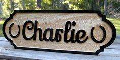 Horse Stall Name Plate Custom – Southern Accent Woodcrafting Cowgirl And Horse, My Horse, Horses, Horse Tack, Horse Riding, Stall Signs, Barn Signs, Pallet Signs, Engraved Wood Signs