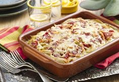 Mexican Lasagna Verde. Sounds much like King Ranch Chicken