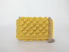 Crochet Luxurious Bronze Shoulder Bag With Chain, Small Crochet Evening Purse,Handmade Mustard Clutch, Gift For Her, Women Luxury Handbag Knit Or Crochet, Crochet Hats, Human Trafficking, Luxury Handbags, One Pic, Printed Cotton, Mustard, Gifts For Her, Bronze