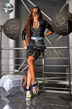 Ocassion One Touch Black Skirt, women`s skirt, form-fitting, ecological leather New Skin, New Trends, Sequin Skirt, Autumn Fashion, Sporty, Punk, Autumn Style, Touch, Leather