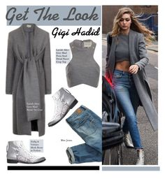 """Get The Look: Gigi Hadid"" by hamaly ❤ liked on Polyvore featuring American Eagle Outfitters, Zadig & Voltaire, Lavish Alice, GetTheLook, StreetStyle, croptop, booties and gigihadid"
