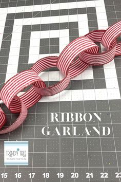 Glitter Ribbon, White Glitter, Ribbon Garland, Garlands, Whimsical Christmas, Trendy Tree, Christmas Ribbon, Halloween Coloring, How To Make Paper