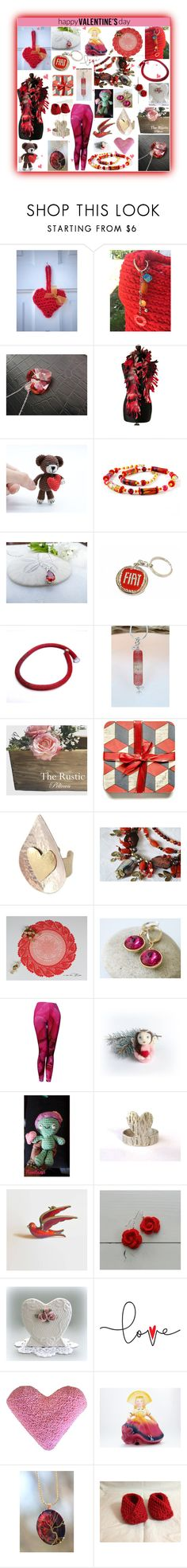 """""""Happy Valentines Day"""" by belladonnasjoy ❤ liked on Polyvore featuring PINK ANGEL, modern, rustic and vintage"""
