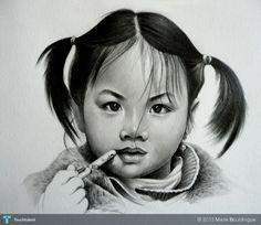 little Vietnamese girl  #Creative #Art #Sketching @Touchtalent.com