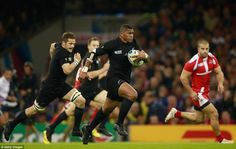 With no more than two minutes played, Naholo surged forward to power his way through Georgia and score the first try of the match
