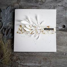 Branch with Leaves Metal Cutting Dies Stencils on Aliexpress.com Scrapbooking Album, Scrapbook Albums, Scrapbook Cards, Card Making Tutorials, Making Ideas, Andreas Moritz, Art Carte, Die Cut Cards, Pretty Cards