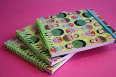 Cute matryoshka - russian dolls handmade notebooks.