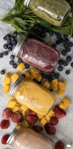 Prep your breakfast smoothie a month in advance with our Make-Ahead Mason Jar Smoothie Recipes. Each smoothie is packed full of fruit, nutrients and even vegetables (don't worry, you can't taste them). Make your favorite flavors ahead of time, freeze and blend when ready to drink!