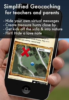 Virtual Geocaching - Xnote. Hide virtual messages outdoors, send your kids on a virtual scavenger hunt using mobile devices
