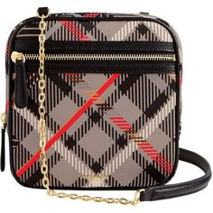 Vera Bradley Elena Crossbody Bag in Sofia Plaid with Black ($59) ❤ liked on Polyvore featuring bags, handbags, shoulder bags, sofia plaid with black, cross body strap purse, zip purse, vera bradley, vera bradley handbags and plaid handbags