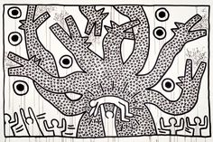 Keith Haring (American, 1958–1990). Untitled, 1982. Sumi ink on paper, 107 x 160 in. (271.8 x 406.4 cm). Collection Keith Haring Foundation. © Keith Haring Foundation