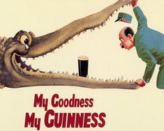 Guinness My Goodness My Guinness Vintage Advertising Enamel
