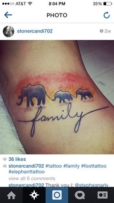 Elephant tattoo  #elephant #family #tattoo #elephanttattoo