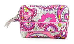 Vera Bradley Small Cosmetic in Paisley Meets Plaid >>> Unbelievable  item right here! : Travel cosmetic bag