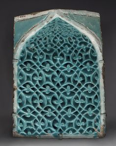 Tile from a squinch, second half of 14th century; Timurid  Samarqand, Uzbekistan  Earthenware, glazed