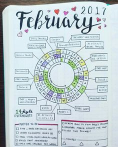Circle Calendar - February 2017  www.myblueskydesign.com