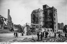 Cherbourg, France after Allied bombing of the U-Boat pens, ca. 1940.