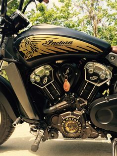 """Photo """"Powder Coating"""" in the album Indian Scout Thunder Black Smoke from Red Hills Power Sports"""" by Triumph Motorcycles, Custom Motorcycles, Custom Bikes, Indian Motorbike, Vintage Indian Motorcycles, Indian Bobber, Bobber Motorcycle, Motorcycle Style, Motorcycle Engine"""