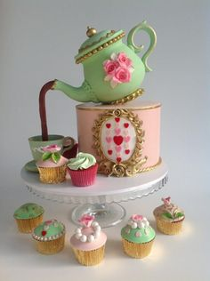 Tea party cakes by Cleopatra cakes