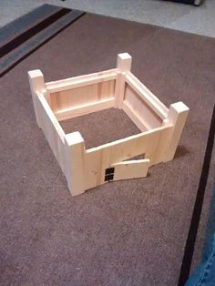 Diy Projects Etsy, Fun Projects, Diy Fort, Wooden Playset, Unfinished Wood, Solid Pine, Wood Toys, Rustic Design, Kids Toys