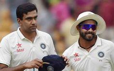 A rare #TopTwo from #India as #RavichandranAshwin & #RavindraJadeja lead #ICCTestRankings. #ICC #SportsCrunch #KarunNair also benefited of his 300-plus innings.