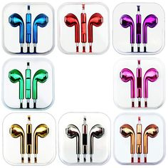 Metallic Handsfree Headphone for Apple iPhone 5 Earphone Colour Earpods in Phones & Accessories, Mobile Accessories, Headsets Ipod Touch 6 Cases, Ipod Touch 6th, Apple Iphone 5, Iphone 5s, Apple Earphones, Phone Clip, Audio Headphones, Apple Products, Cell Phone Accessories