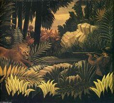 Le Chasseur de Lion - (Henri Rousseau)