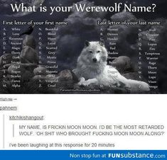 Werewolf name - FunSubstance.com