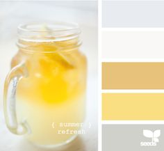 summer refresh love the yellow and gray