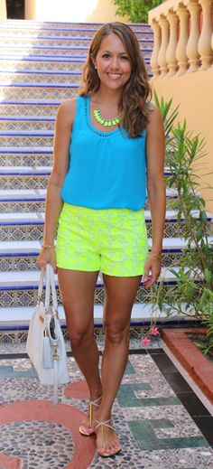Neon and perfect for this heat!