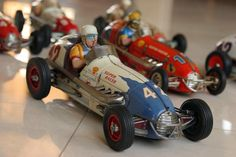Antique toy car race