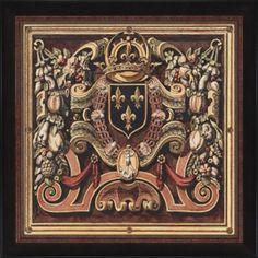 """Paragon Fleur-de-lis Crest by Unknown Mark Abrams Art - 44"""" x 44"""" - 6721"""
