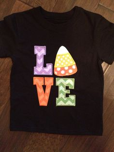 LOVE Candy Corn Halloween T-Shirt or Onesie