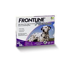 Merial Frontline Plus Flea and Tick Control for 45 to 88-Pound Dogs and Puppies, 3-Doses