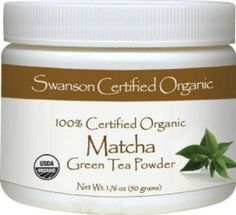 matcha - green tea power is concentrated and easy to mix with water hot or cold. Great for weight loss and detox