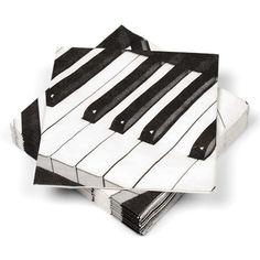 Piano key napkins