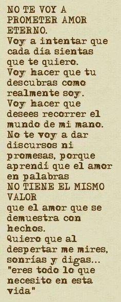 Una verdadera carta de amor...