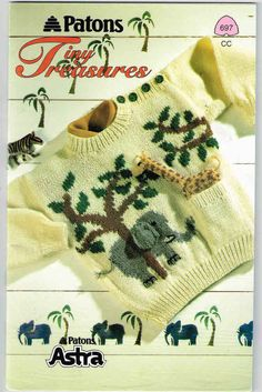 Kids Sweater Patterns Sizes 18 months, 4 & 6 Tiny Treasures Beehive Patons 697 Vintage Paper Original NOT a PDF Vintage Knitting, Baby Knitting, Little Boy And Girl, Tiny Treasures, Sweater Knitting Patterns, Sweater Making, Cool Sweaters, Pattern Books, 6 Years
