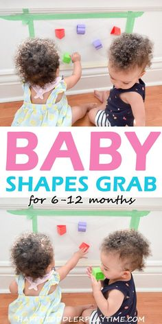 Baby Shapes Grab - HAPPY TODDLER PLAYTIME Need an activity to help your little practice sitting? Baby Shapes Grab is a great sitting up activity for babies 6 to 12 months old using contact paper! Cognitive Activities, Sensory Activities, Infant Activities, 10 Month Old Baby Activities, Baby Sensory Play, Baby Play, Infant Sensory, Diy Bebe, Before Baby