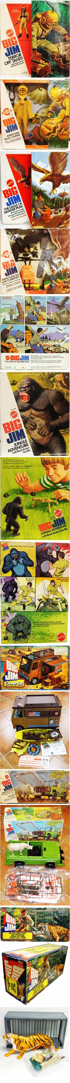 Big Jim Accessories by Mattel. I had Big Jim and the camper, but none of the rest of these accessories.