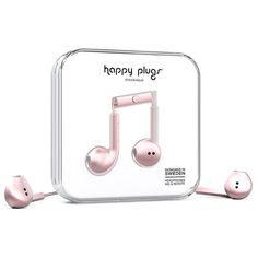 Happy Plugs Earbud Plus ($37) ❤ liked on Polyvore featuring accessories, tech accessories, headphones, pink gold, womens-fashion, headphones earbuds, earphones earbuds, happy plugs, ear bud headphone and rose gold headphones