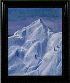 White Mountain by Joni Mitchell Joni Mitchell Paintings, Frozen Painting, Great Paintings, Mountain Paintings, Canadian Artists, Autumn Trees, Art Music, Amazing Art, Oil On Canvas