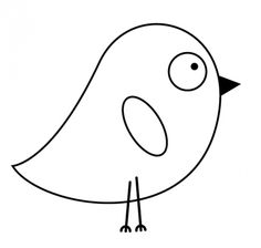 Birds: Free Coloring Page: Funny chick for coloring - Coloring Pages Felt Patterns, Applique Patterns, Free Printable Coloring Pages, Free Coloring Pages, Coloring Pages For Grown Ups, Bird Free, Bird Houses Painted, Spring Art, Ceramic Painting