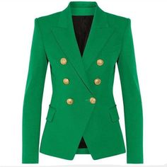 Felona Green Fitted Blazer
