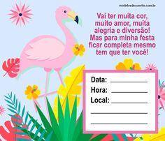 convite flamingo Nannynha❤: Oi Nannynha❤: A tarde eu vou la pra vc falar c vc Nannynha❤: Ele Nannynha❤: Viu Nannynha❤: Oi Nannynha❤: A tarde eu vou la pra vc falar c vc Nannynha❤: Ele Nannynha❤: Viu Flamingo Birthday, Flamingo Party, Stained Glass Patterns, Party Themes, Baby Shower, Mary, Erika, Victoria, Kids